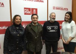 LA MEIGA MAYOR CON EL GRUPO MUNICIPAL SOCIALISTA