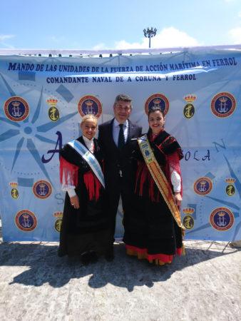 Las Meigas con el Delegado de la Xunta, Ovidio Rodeiro Tato