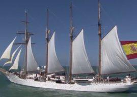 El año en que nos visitó el Juan Sebastián Elcano