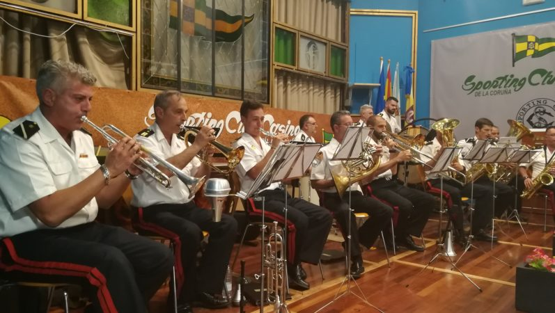 THE MUSIC OF THE THIRD NORTH OF MARINE INFANTRY, FILLED THE CASINO