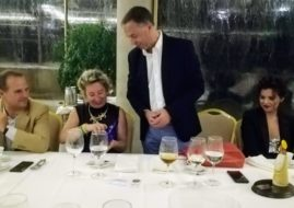Farewell dinner of the naval commander and his wife