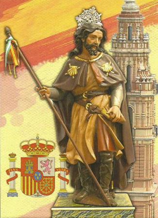 HAPPY DAY OF SANTIAGO, PATTERN OF SPAIN