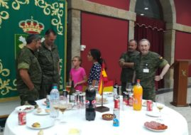 THE CHILD MAJOR MEIGA, REPRESENTING THE MEIGAS ASSOCIATION ON THE DAY OF THE OPERATIVE LOGISTIC FORCE