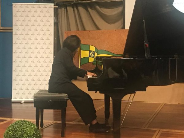 La pianista Hiwot Vilariño durante su actuación