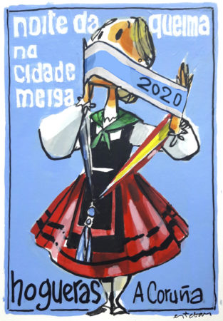 "COVER OF THE MAGAZINE ""HOGUERAS-20"""