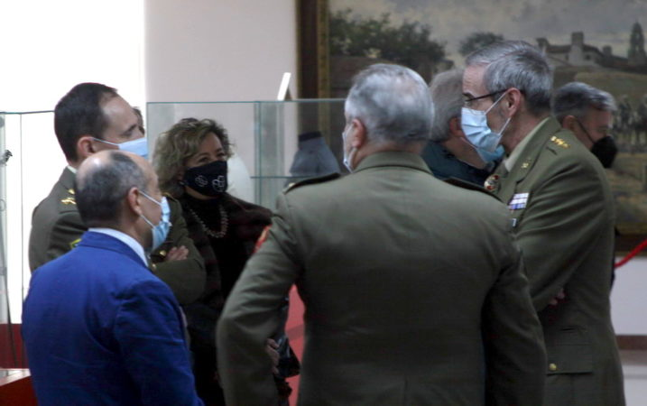 """THE PRESIDENT OF THE MEIGAS ASSOCIATION AT THE INAUGURATION OF THE EXHIBITION ON """"OPERATION BALMIS"""""""