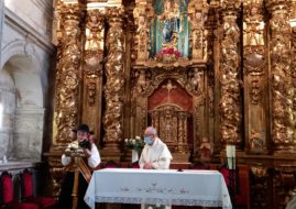 THE OFFERING TO OUR LADY OF THE ROSARY AND THE LIGHTING OF THE FIRE OF SAN JUAN WERE CELEBRATED