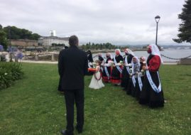 THE OFFERING TO THE VIRGIN DEL CARMEN AND THE TRIBUTE TO THE ROYAL PHILANTHROPIC VACCINE EXPEDITION WAS CELEBRATED