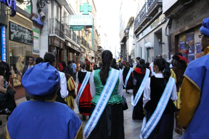 Comitiva del Homenaje a la Bandera